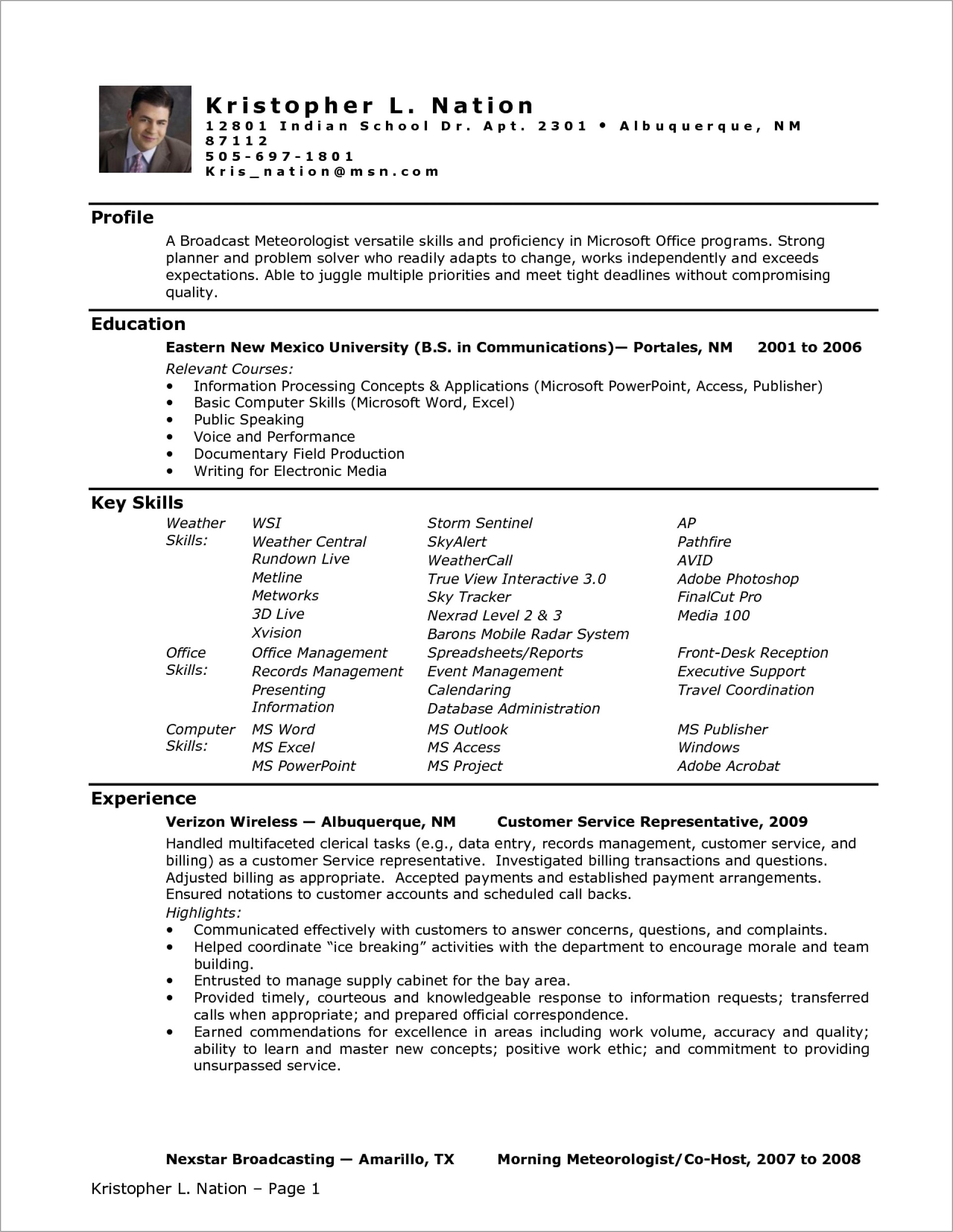 Medical Assistant Resume Template Word