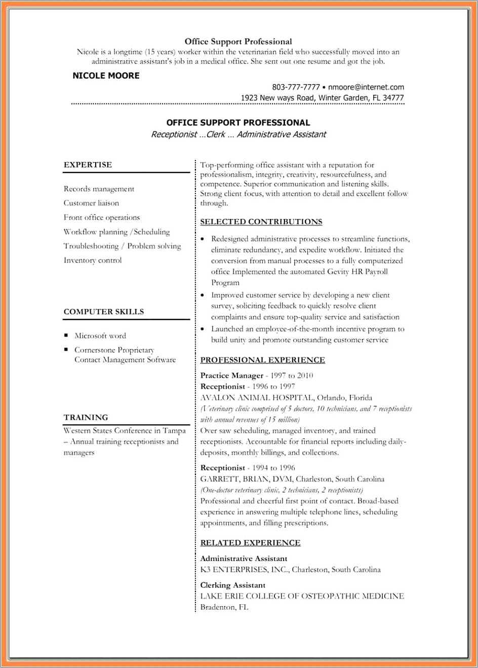 Medical Assistant Resume Templates Word