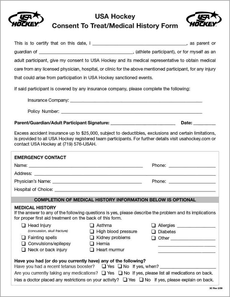 Medical History Questionnaire Questions