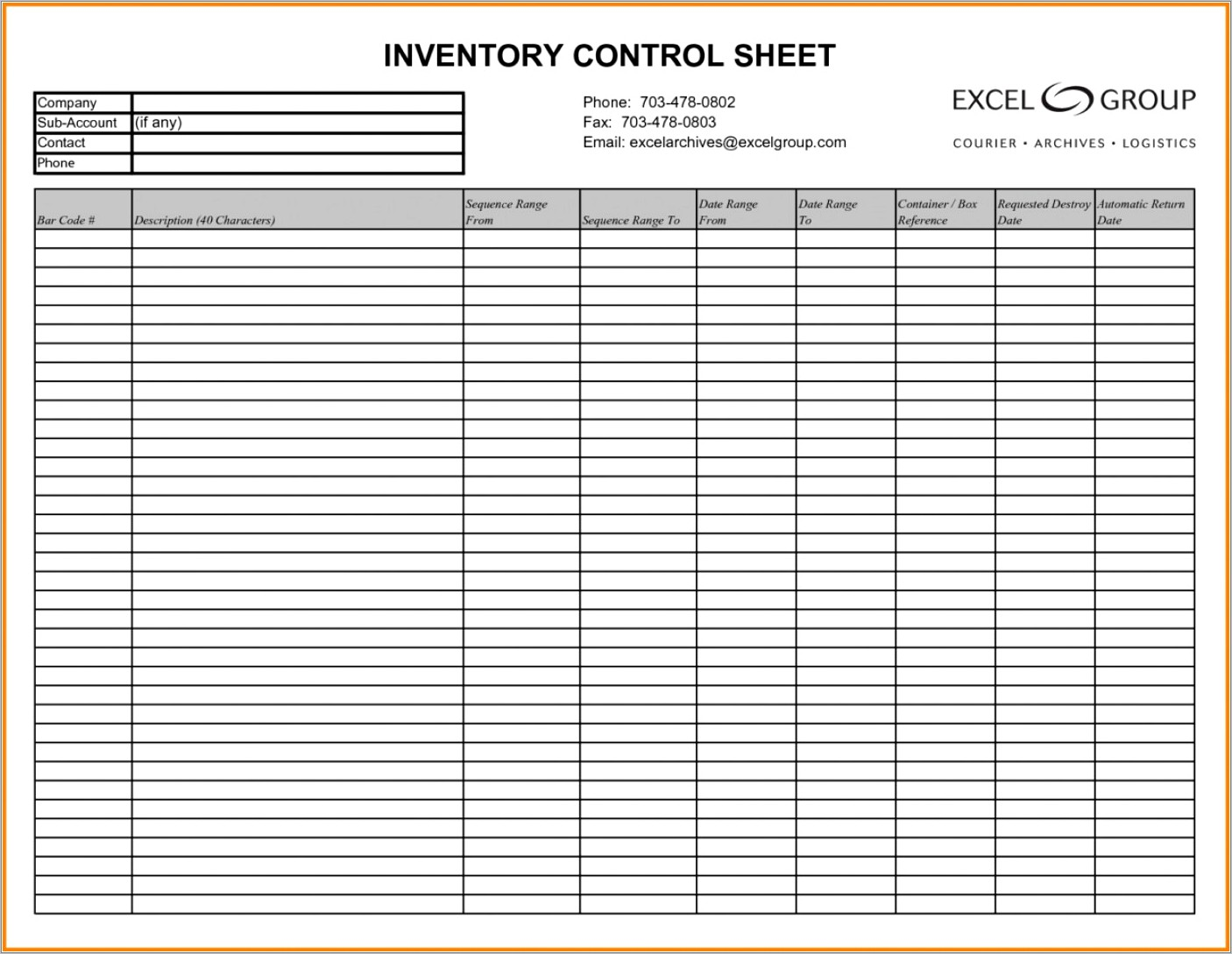 Medical Office Supply Inventory Template