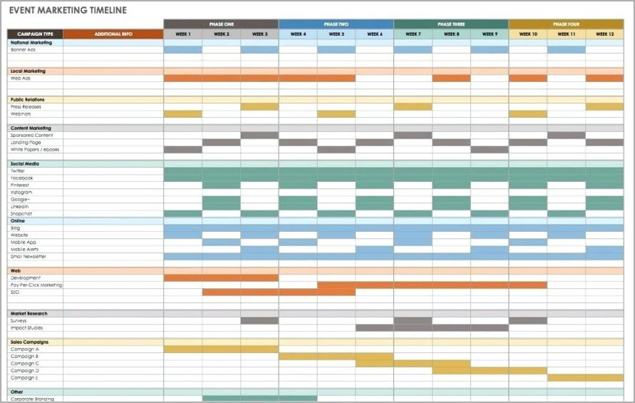 Meeting Planning Timeline Template