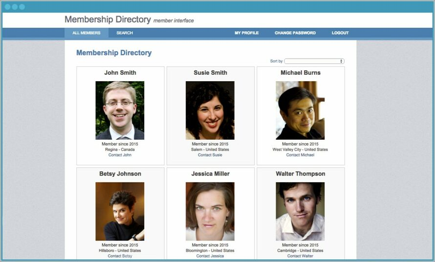 Membership Directory Template With Photos Free