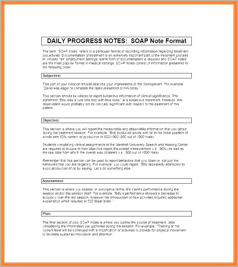 Mental Health Soap Note Template Pdf
