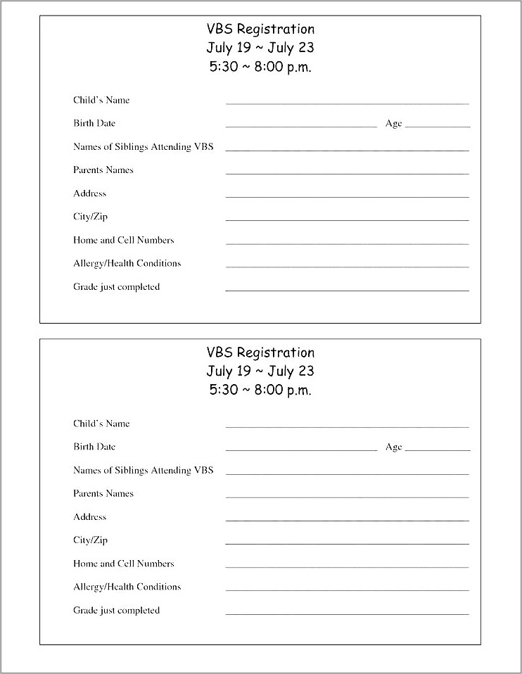 Mentor Application Form Template
