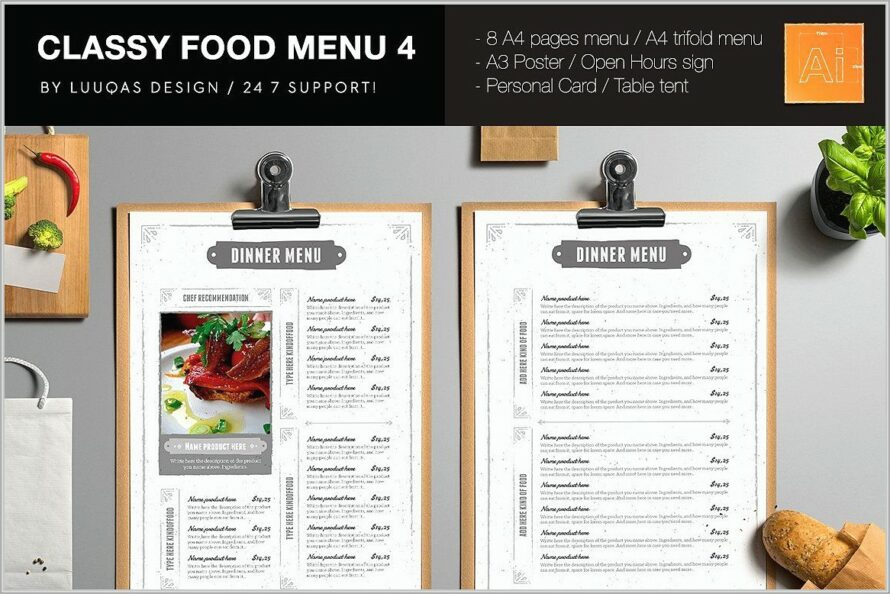 Menu Templates For Publisher 2007