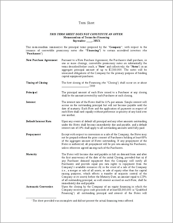 Merger Heads Of Agreement Template