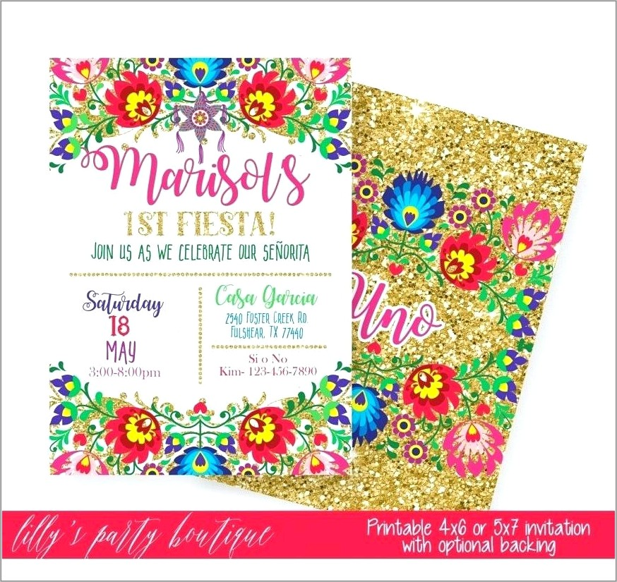 Mexican Fiesta Birthday Invitation Templates