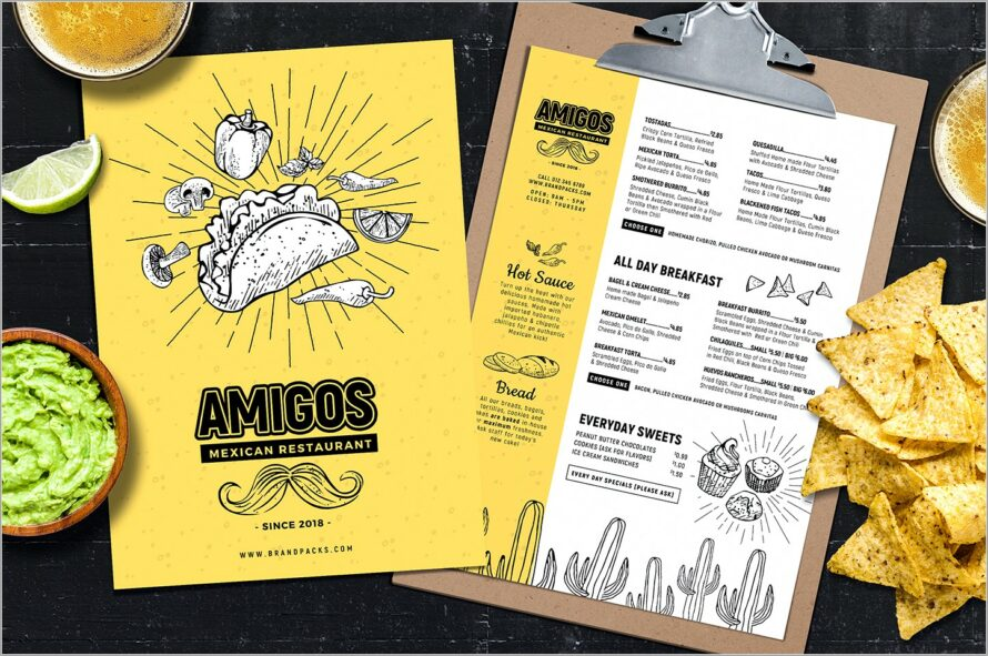 Mexican Restaurant Menu Templates