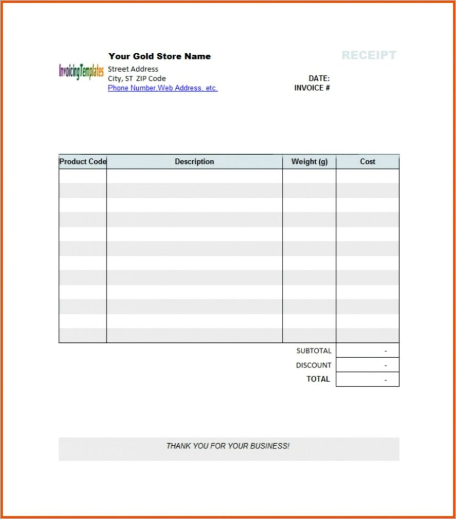 Microsoft Invoice Form Template