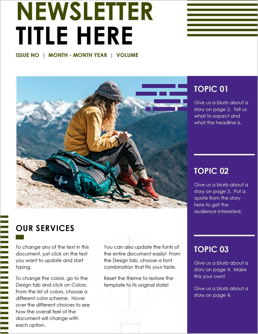 Microsoft Newsletter Layout Templates