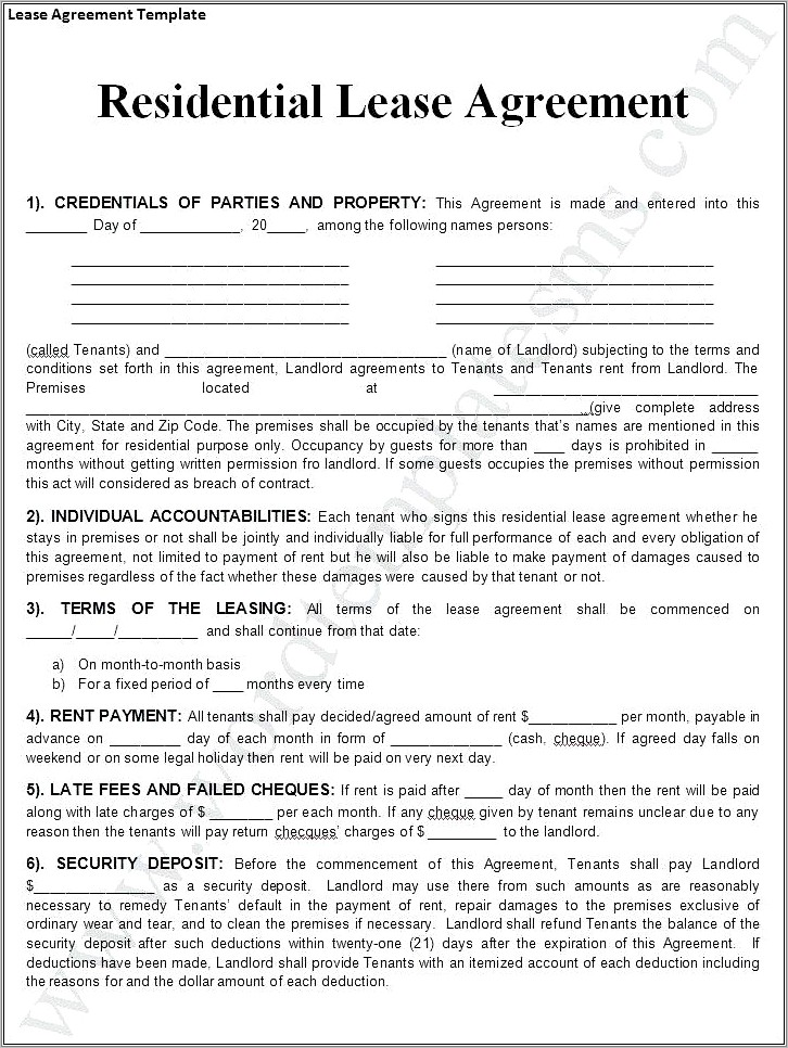 Microsoft Office Business Contract Template