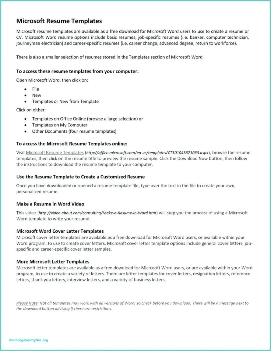Microsoft Office Contract Forms