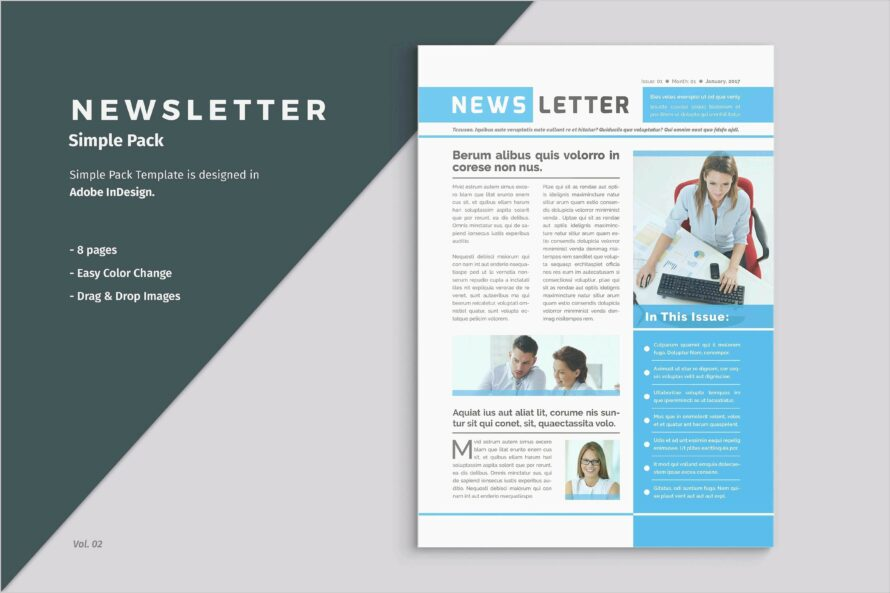 Microsoft Office Publisher Newsletter Templates
