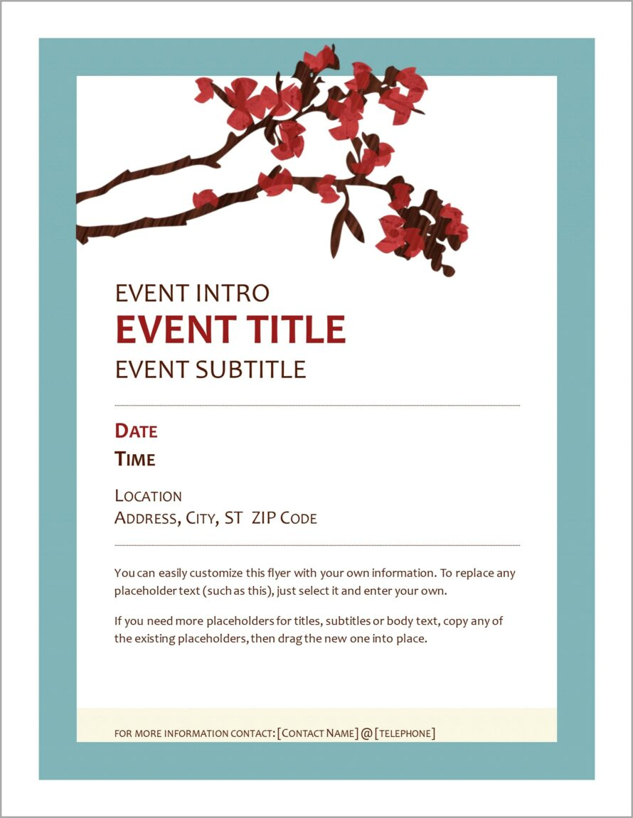 Microsoft Office Template Event Flyer