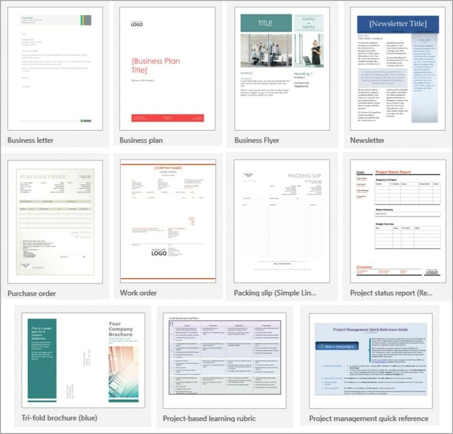 Microsoft Office Word 2007 Newsletter Templates