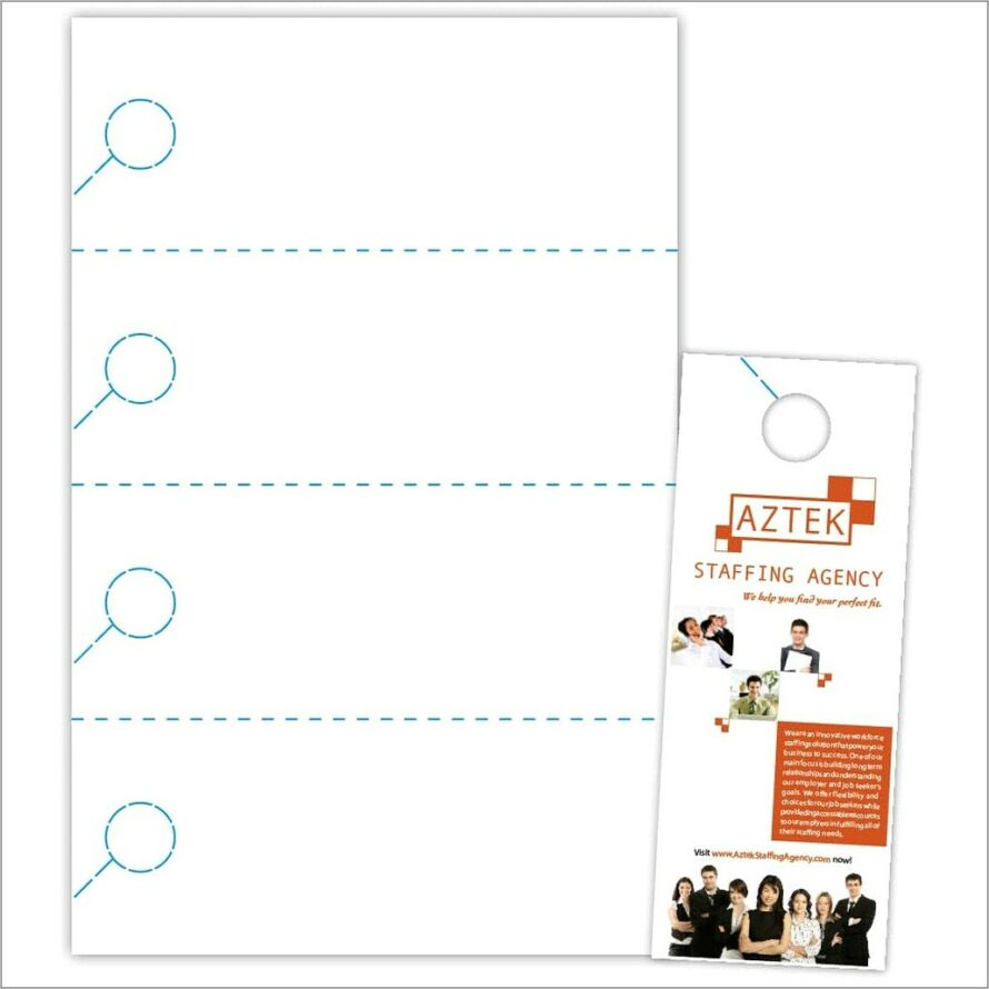 Microsoft Publisher 2010 Door Hanger Template