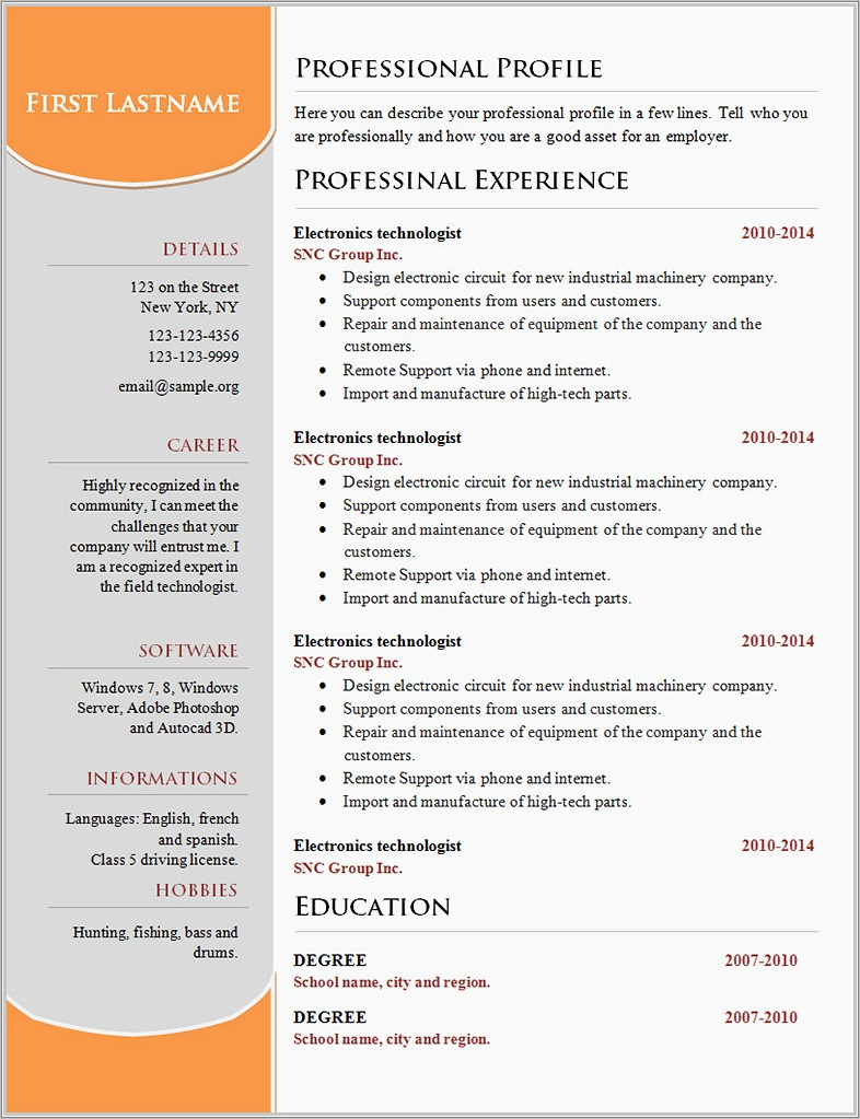 Microsoft Word 2007 Booklet Template