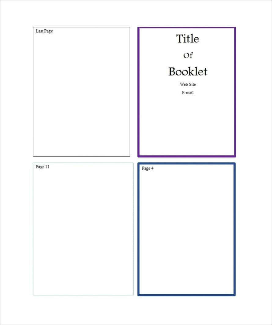 Microsoft Word Booklet Template Free