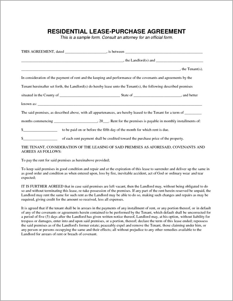 Microsoft Word Commercial Lease Agreement Template