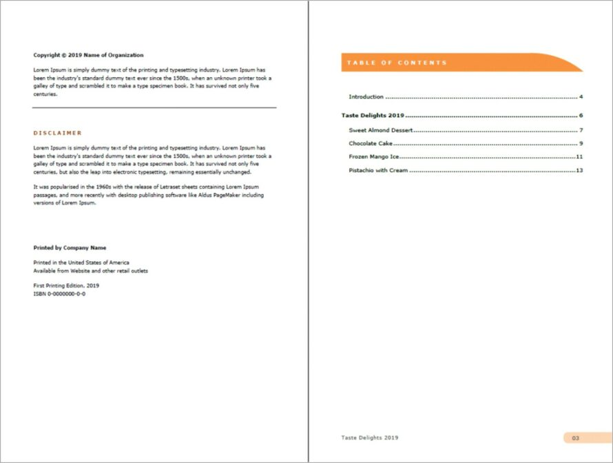 Microsoft Word Cookbook Template Download