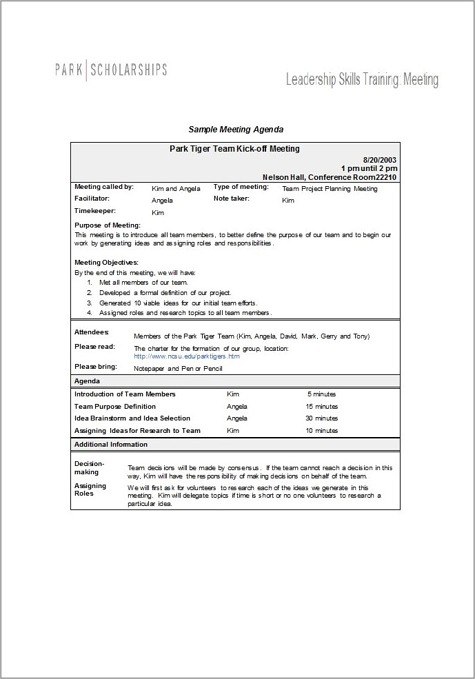 Microsoft Word Corporate Minutes Template