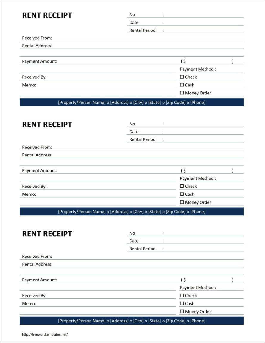Microsoft Word Free Receipt Template