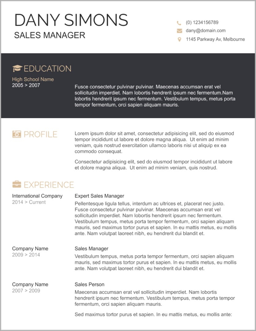 Microsoft Word Free Resume Template Download
