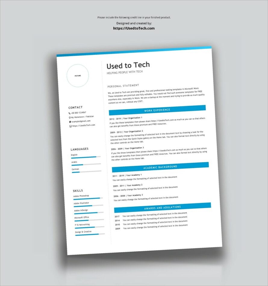 Microsoft Word Free Templates For Resumes