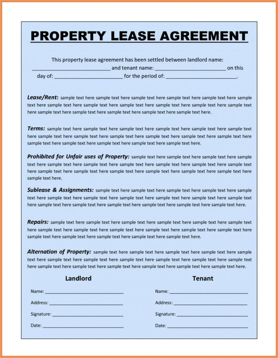 Microsoft Word Lease Agreement Template