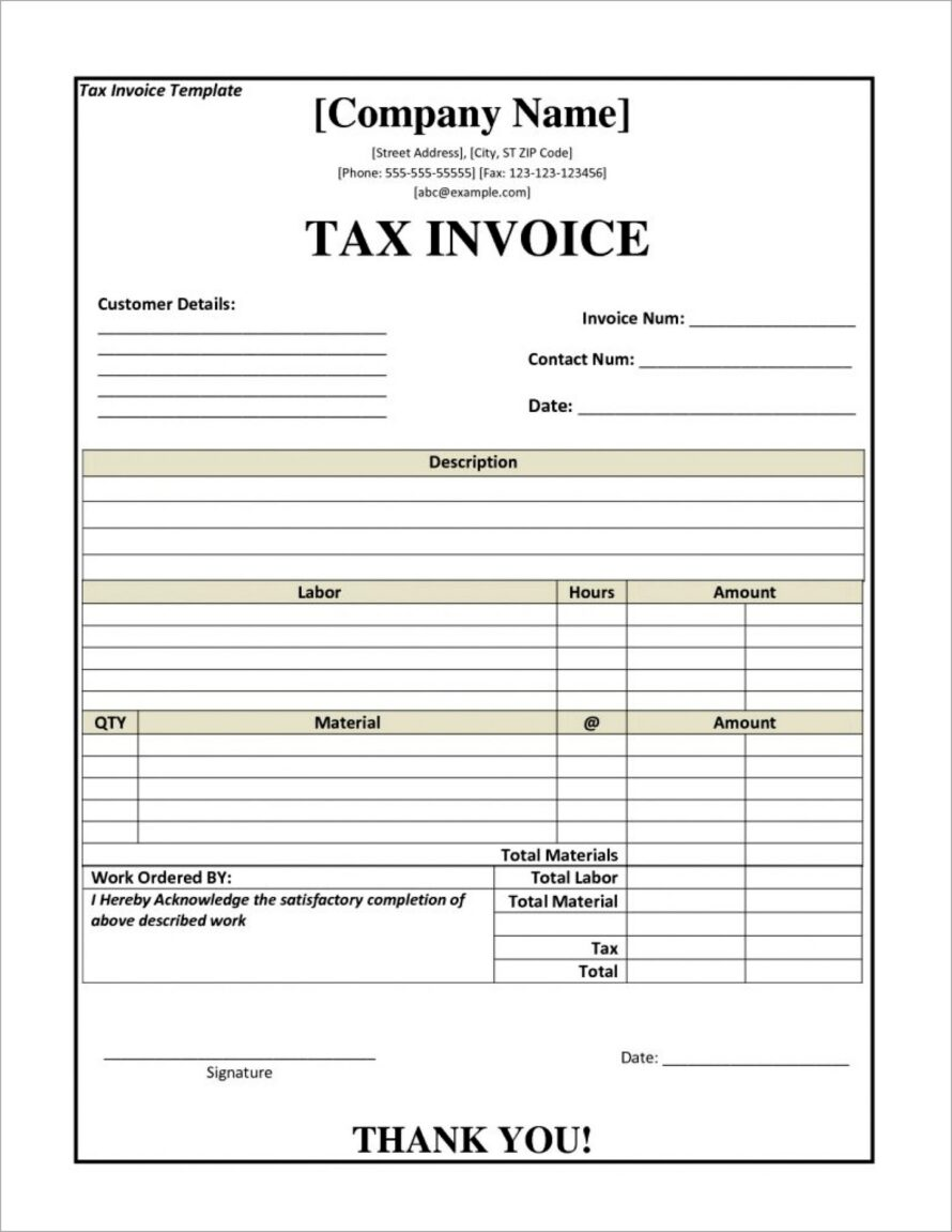 Microsoft Word Legal Invoice Template