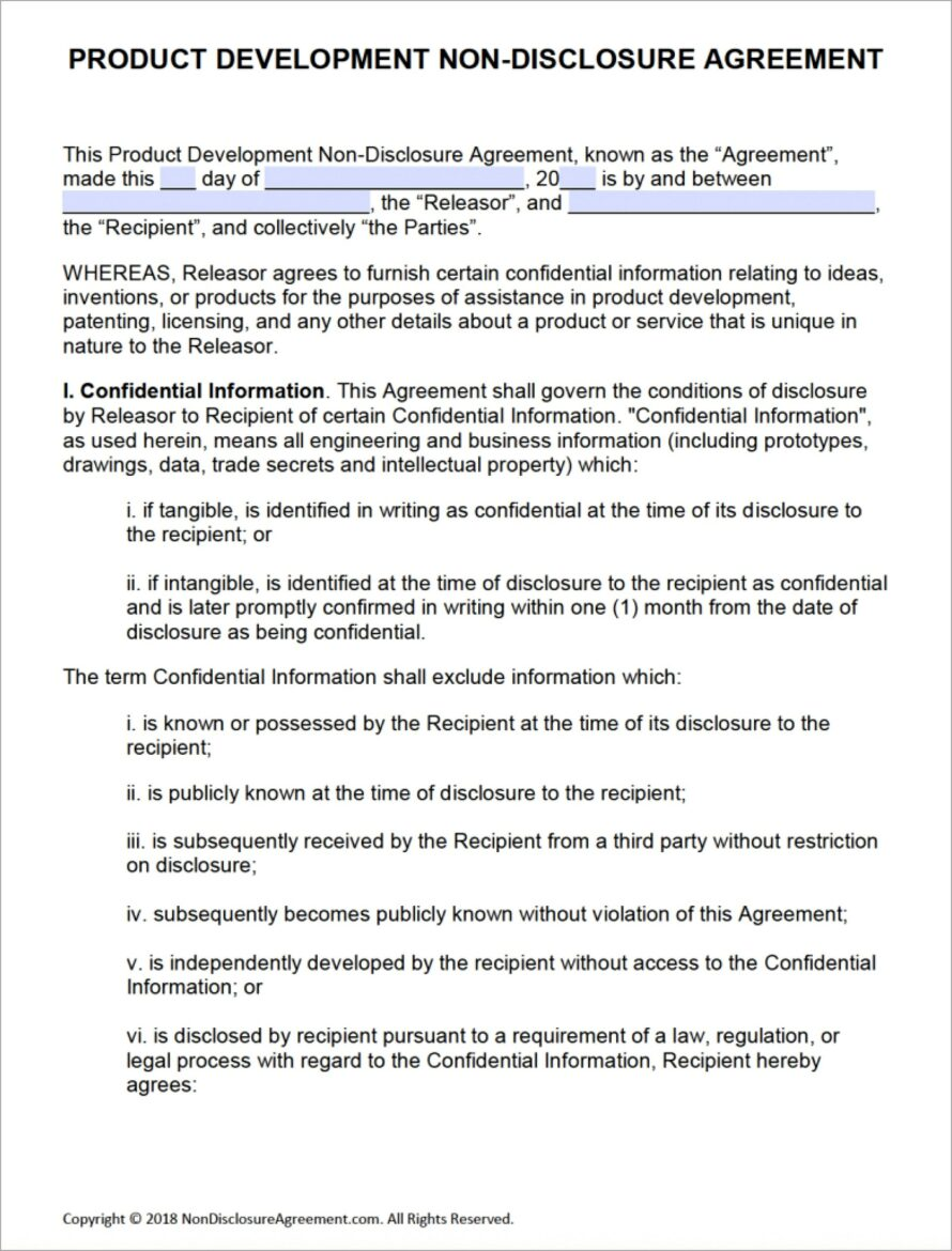 Microsoft Word Non Compete Agreement Template