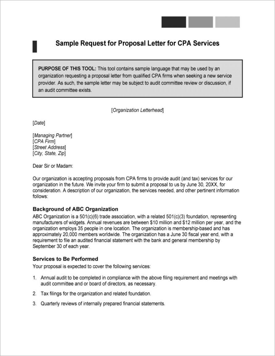 Microsoft Word Request For Proposal Template