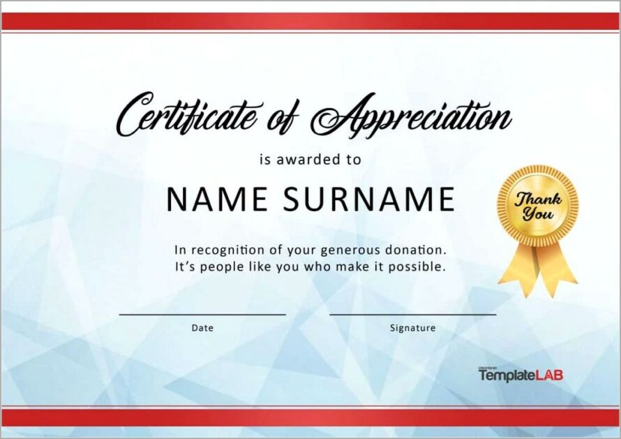 Microsoft Word Templates For Certificates Of Appreciation