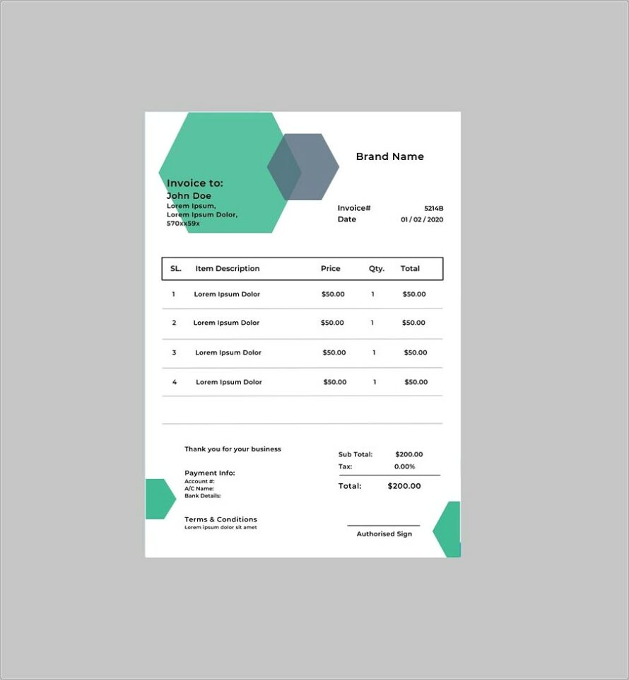 Microsoft Word Templates For Invoice