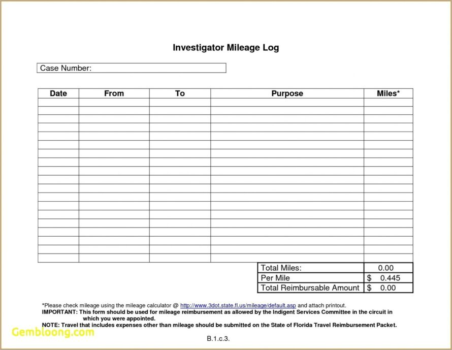 Mileage Expense Form Template Uk