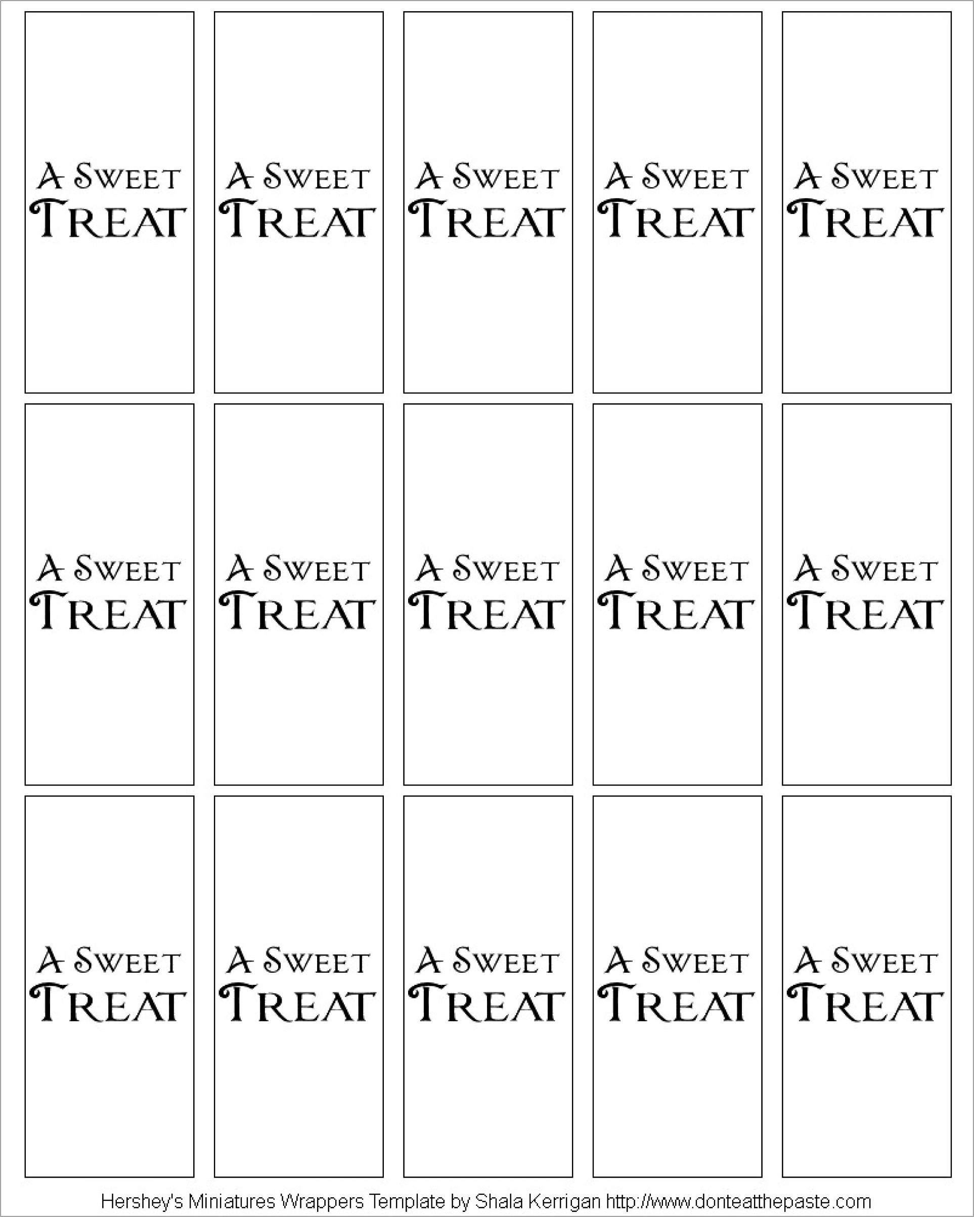 Mini Candy Bar Wrapper Template For Word