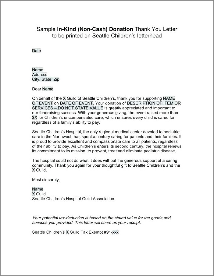 Mission Trip Donation Letter Template