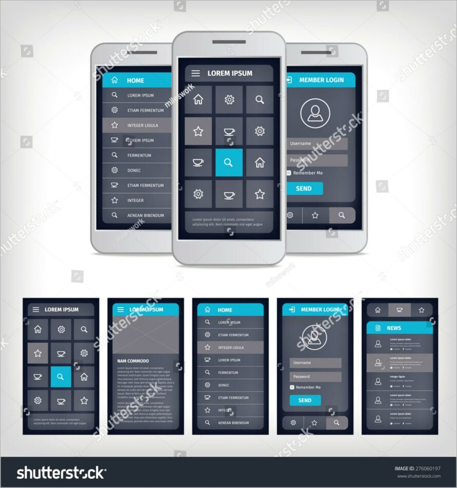 Mobile App Ui Design Templates