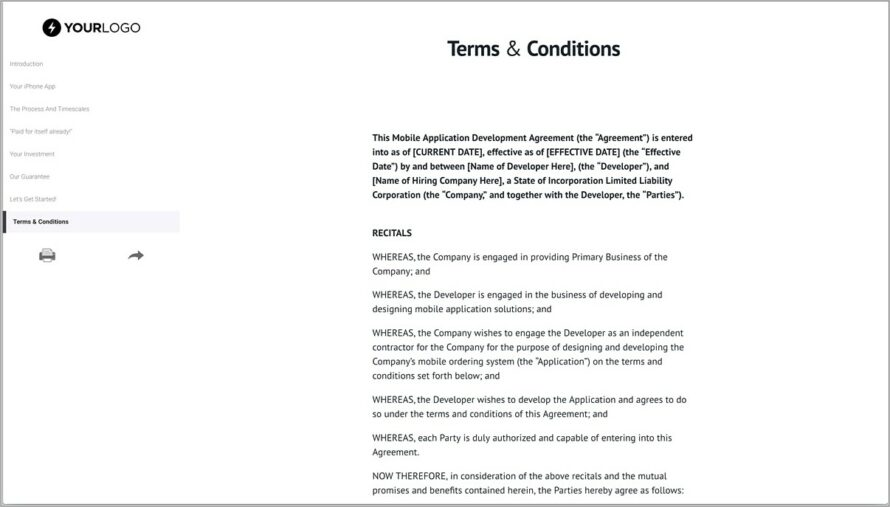 Mobile Application Development Contract Template