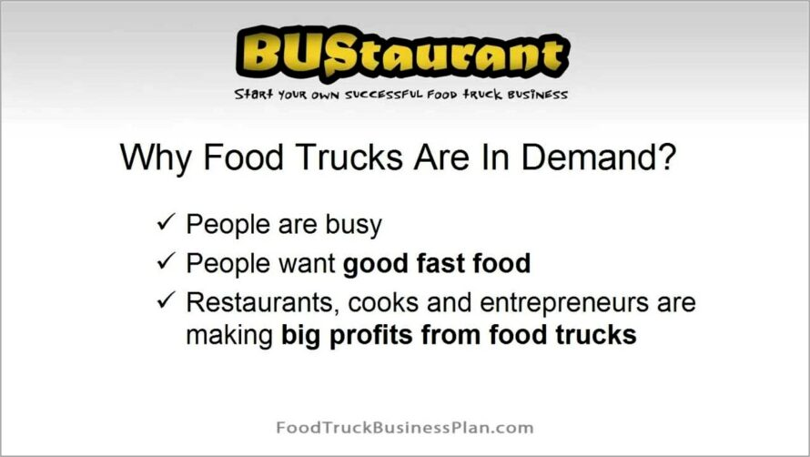 Mobile Food Truck Business Plan Example