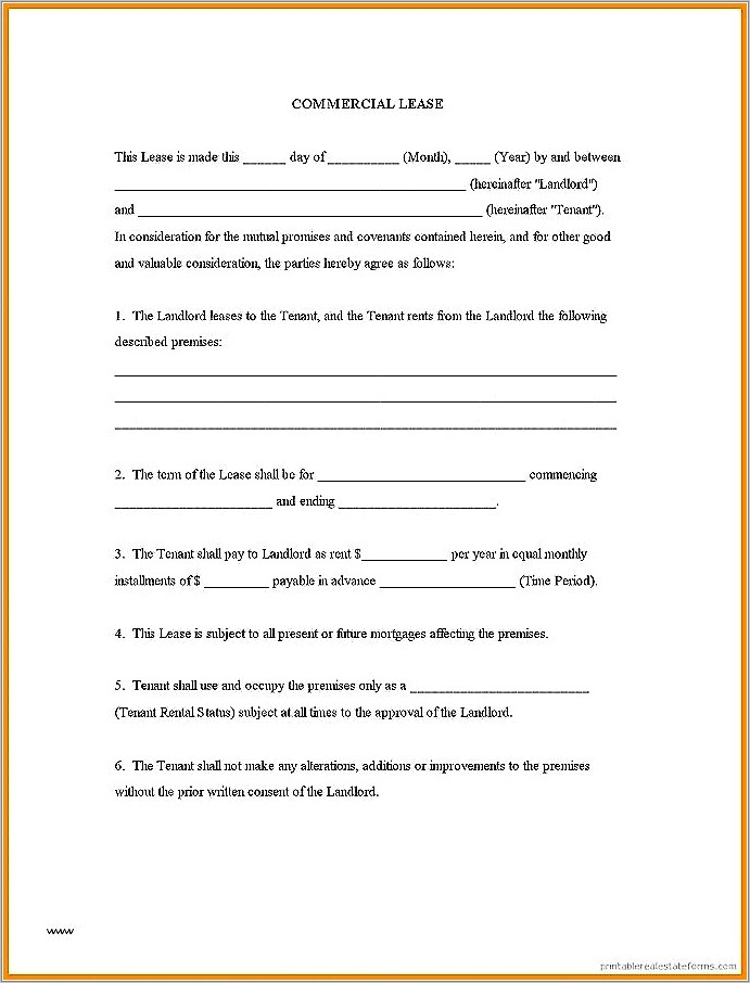 Month To Month Lease Agreement Example