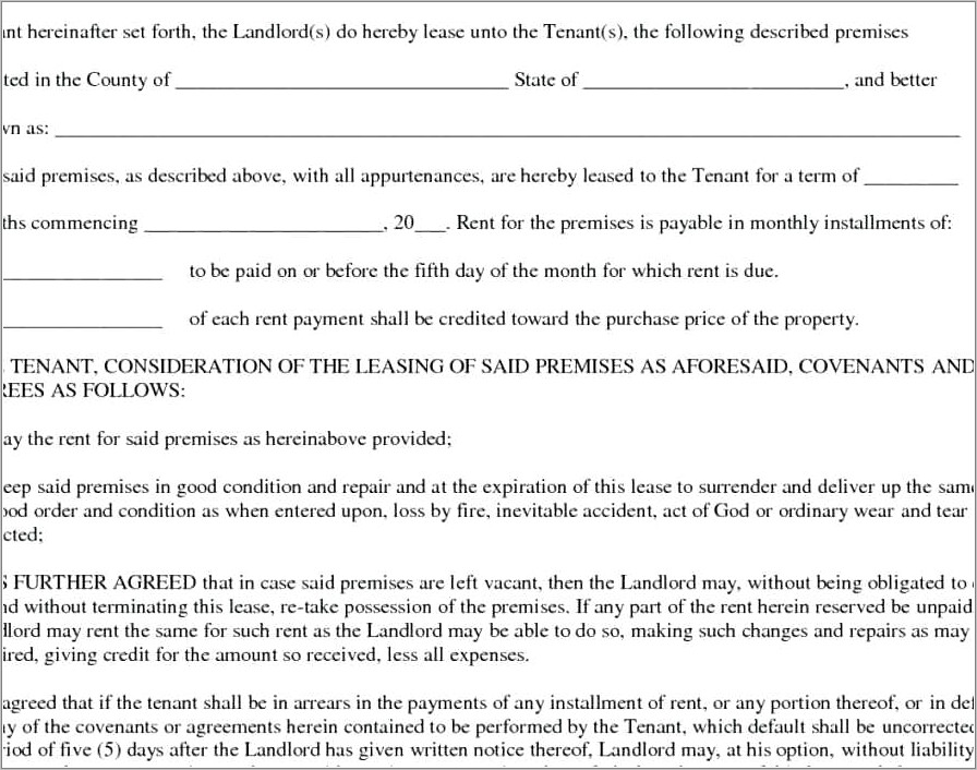 Month To Month Lease Contract Florida