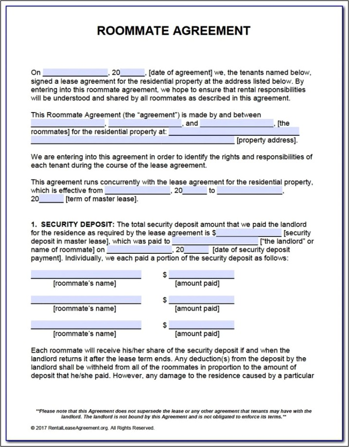 Month To Month Lease Form Florida