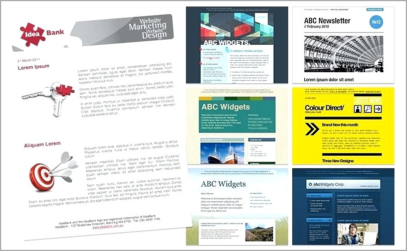 Monthly E Newsletter Template