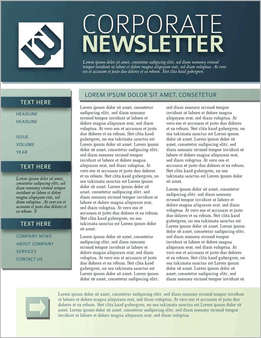 Monthly Email Newsletter Template