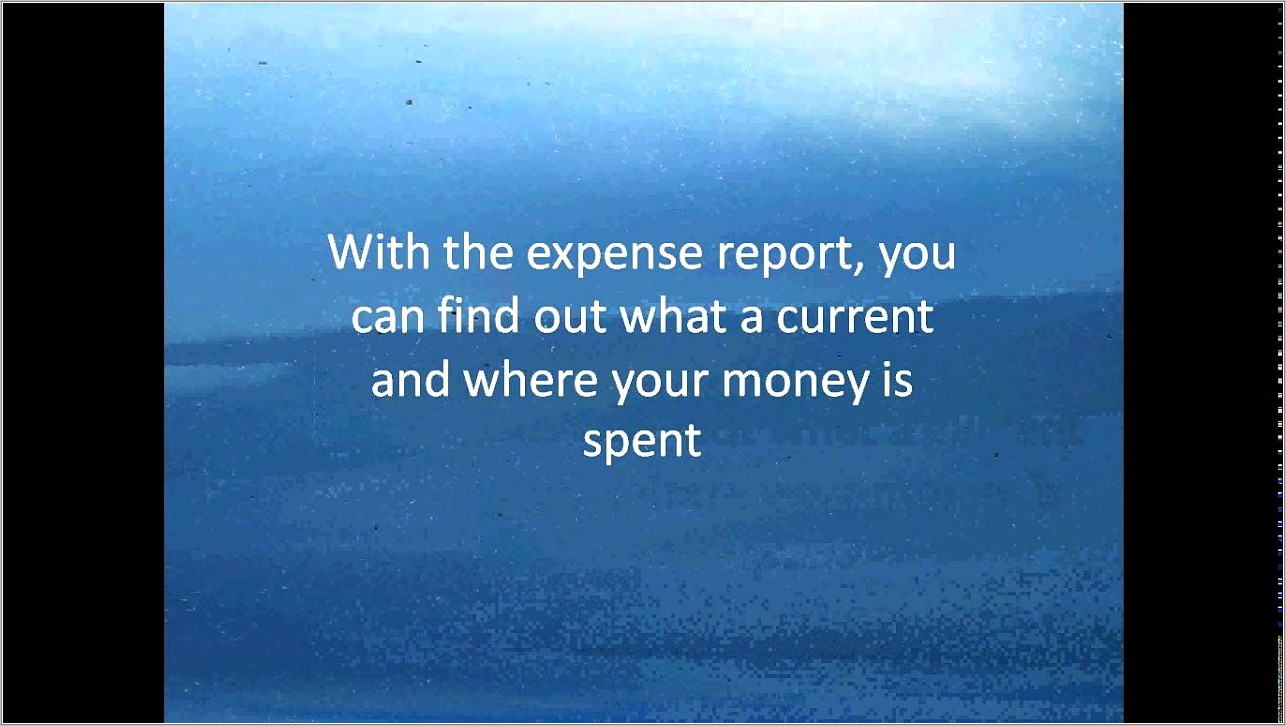 Monthly Expense Report Template Pdf