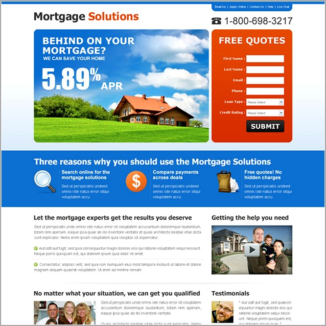 Mortgage Broker Landing Page Templates