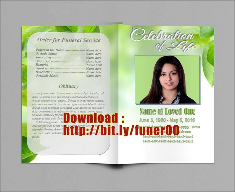 Ms Publisher Funeral Program Template