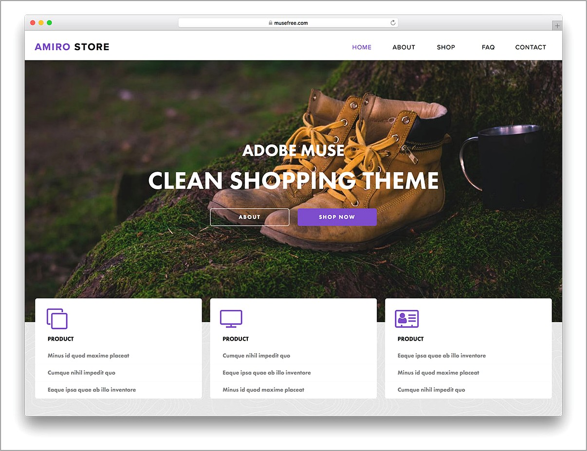 Muse Ecommerce Template Free