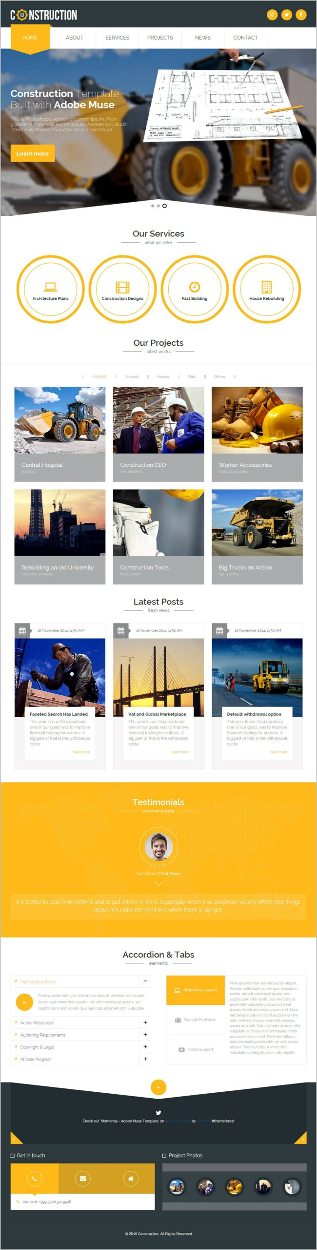 Muse Responsive Design Template
